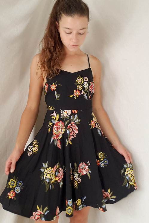 Floral tank dress-XS