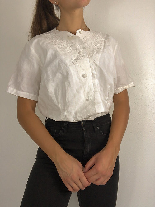 Vintage button up blouse-Medium