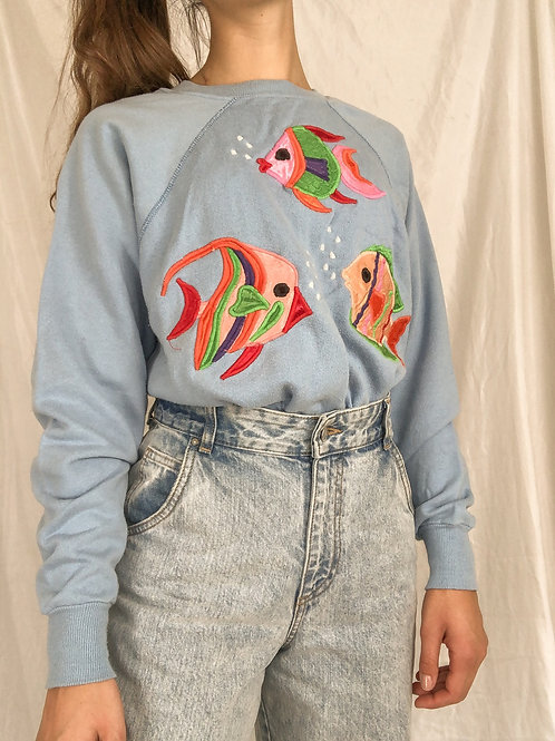 Fish sweatshirt-large