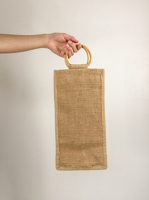 Wooden handled tote