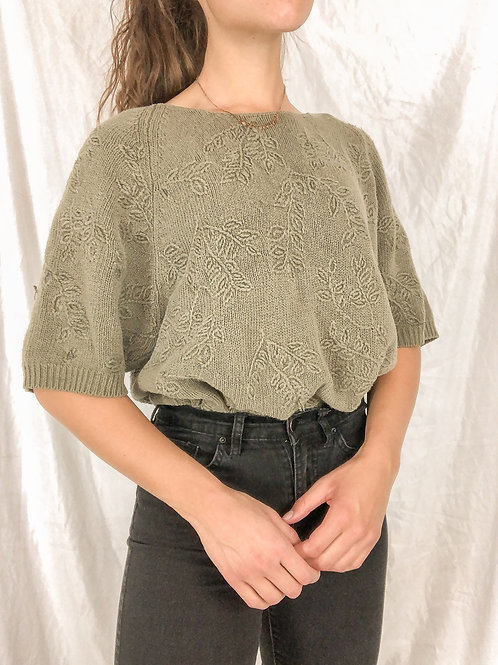 Sage embroidered sweater-XL