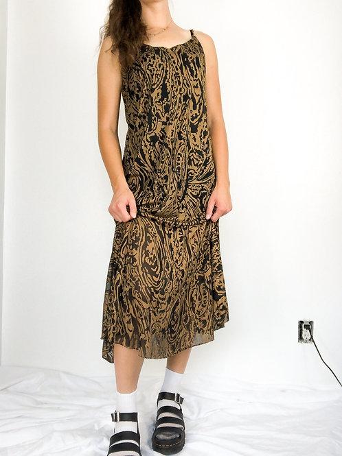 Print dress-large