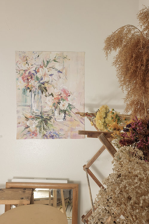 Original canvas floral painting