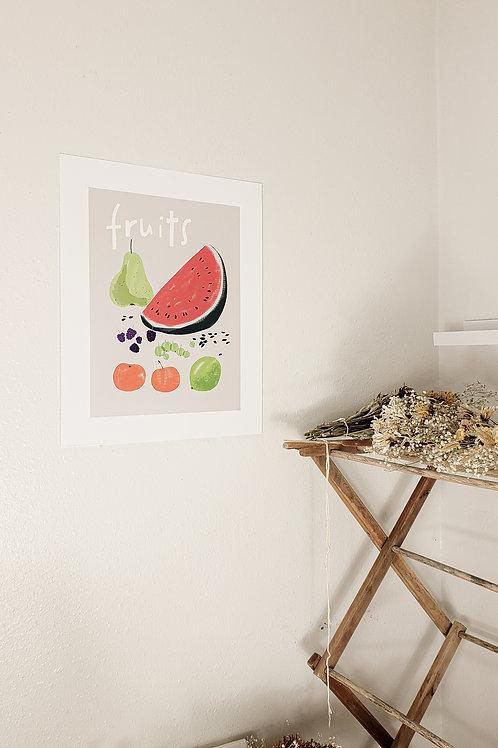 Fruits poster print