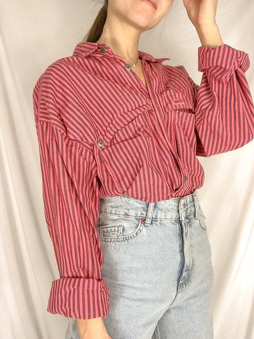 Vintage striped button up-large