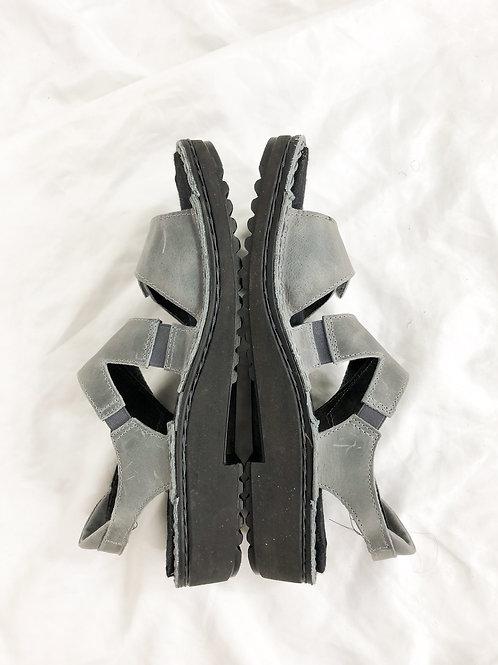 Gray sandals-women's 9