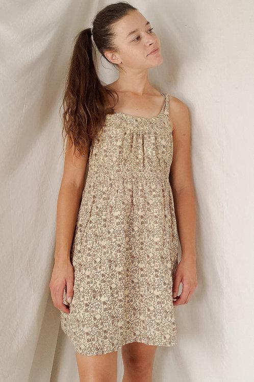 Brown floral tank dress-Medium