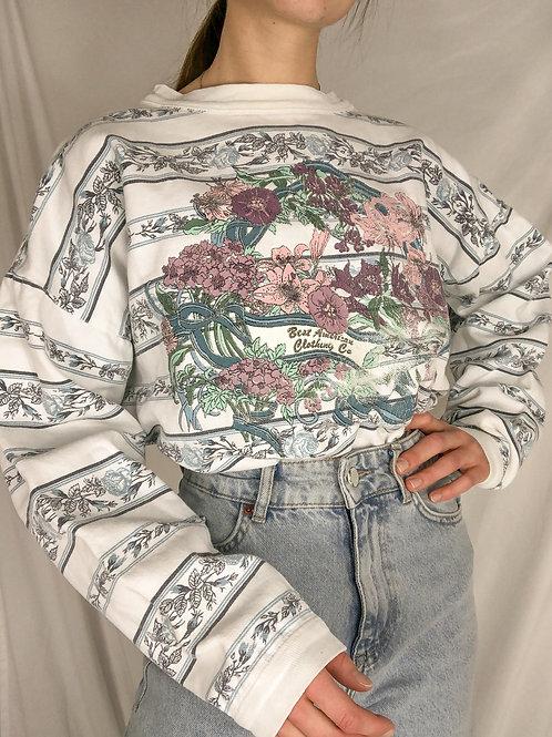 Vintage floral tee-large