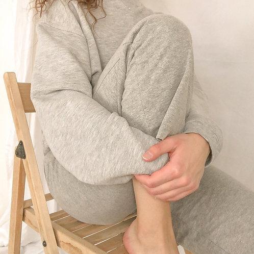 Gray sweatshirt + pants set-medium