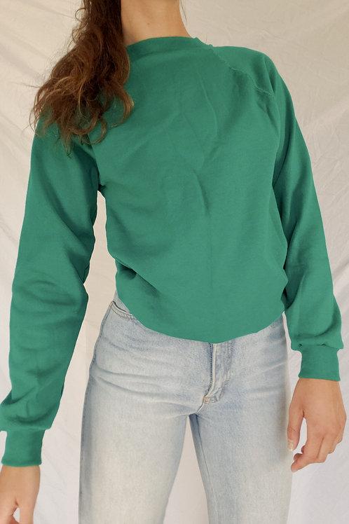 Vintage teal sweatshirt-XS