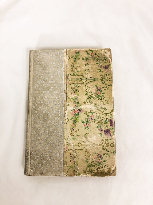 Small vintage floral book