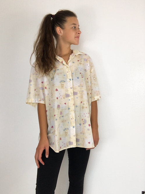 Spring floral button up-large