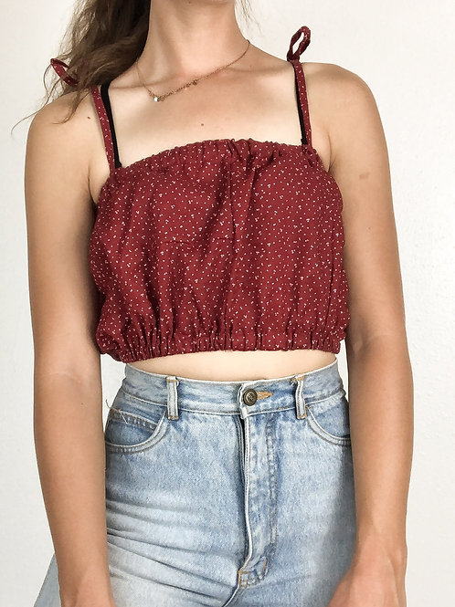 Red speckled bandeau top-One Size