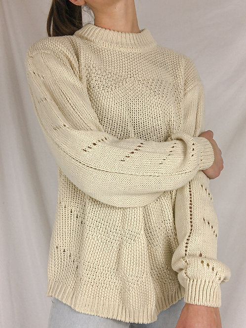 Chunky knit sweater-Large