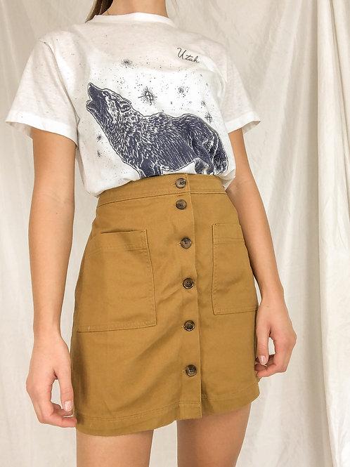 Brown fall skirt-medium