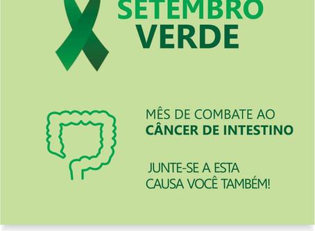 SETEMBRO VERDE - Mês de Combate ao Câncer de Intestino!