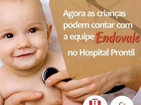 As crianças podem contar com a equipe Endovale no Hospital Prontil