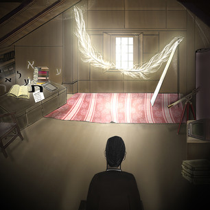 "Illustration to Yaniv Atzmon's poem ""the attic of my life"""