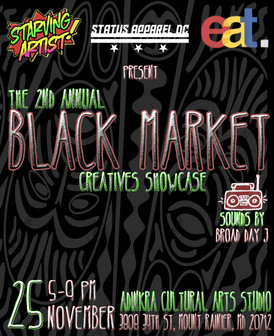 The Second Annual Black Market Creatives Showcase