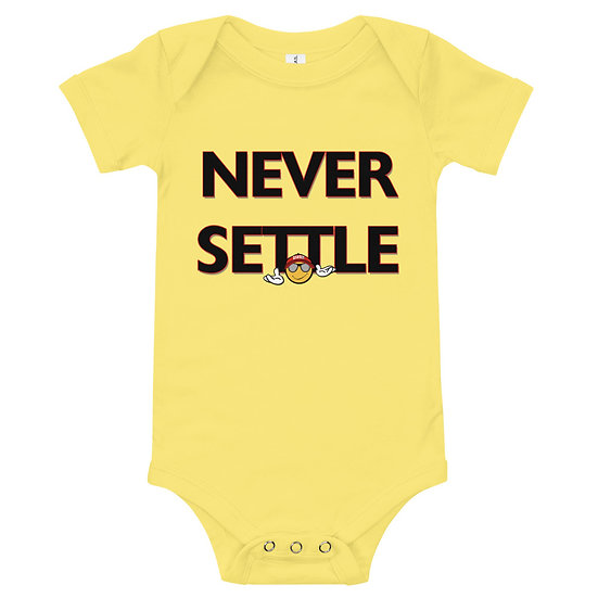 """Never Settle"" Onesie"