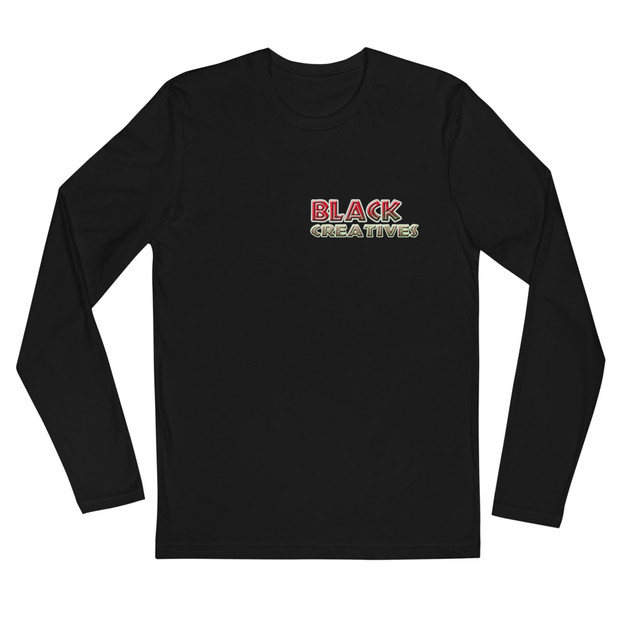 """""""Black Creatives"""" Long Sleeve Fitted Crew"""