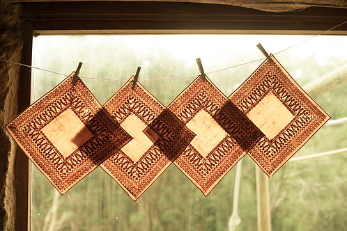 Batik Gold & Brown