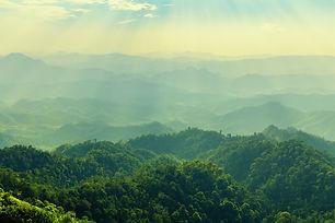High mountain in morning time. Beautiful