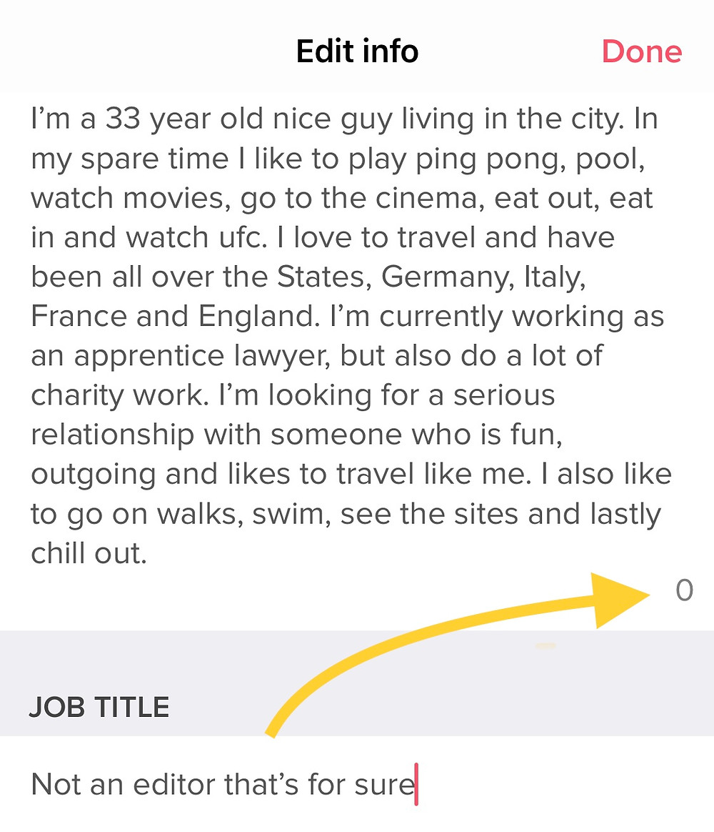 What to write in a Tinder profile