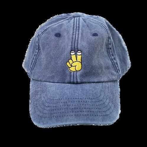 Kölsch Peace Dad Cap Blau