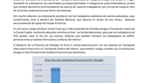 Fetap insiste: el apoyo provincial es clave para cumplir los compromisos con trabajadores