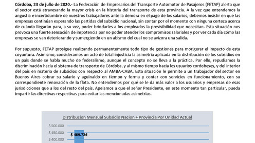 Sin subsidios oficiales, se agrava la crisis en el sistema de transporte