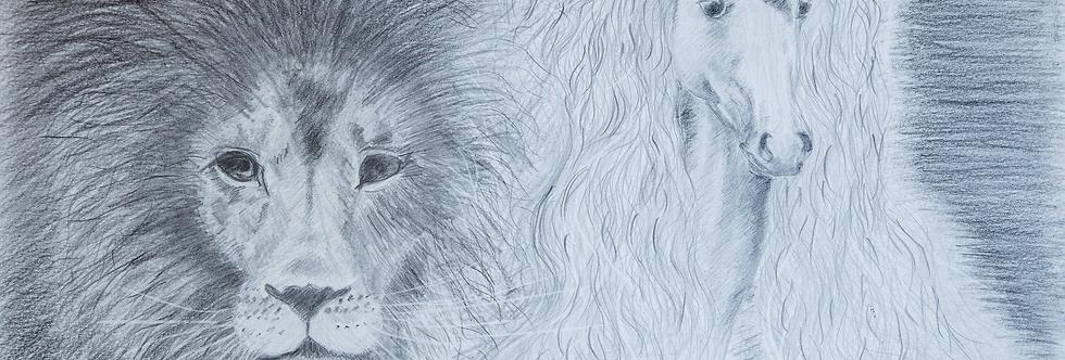 Lion and Unicorn Print