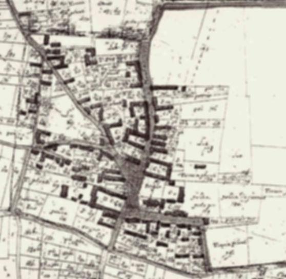 Le plan de masse du village