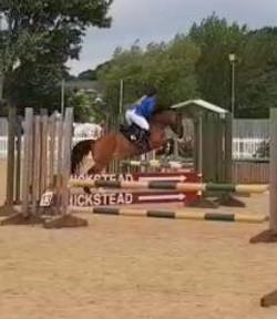 Kristina show jumping at Hickstead
