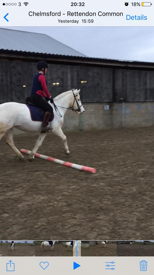 First canter after a blip