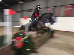 First ever xc jump - inspired by Hannah not to put off until tomorrow...