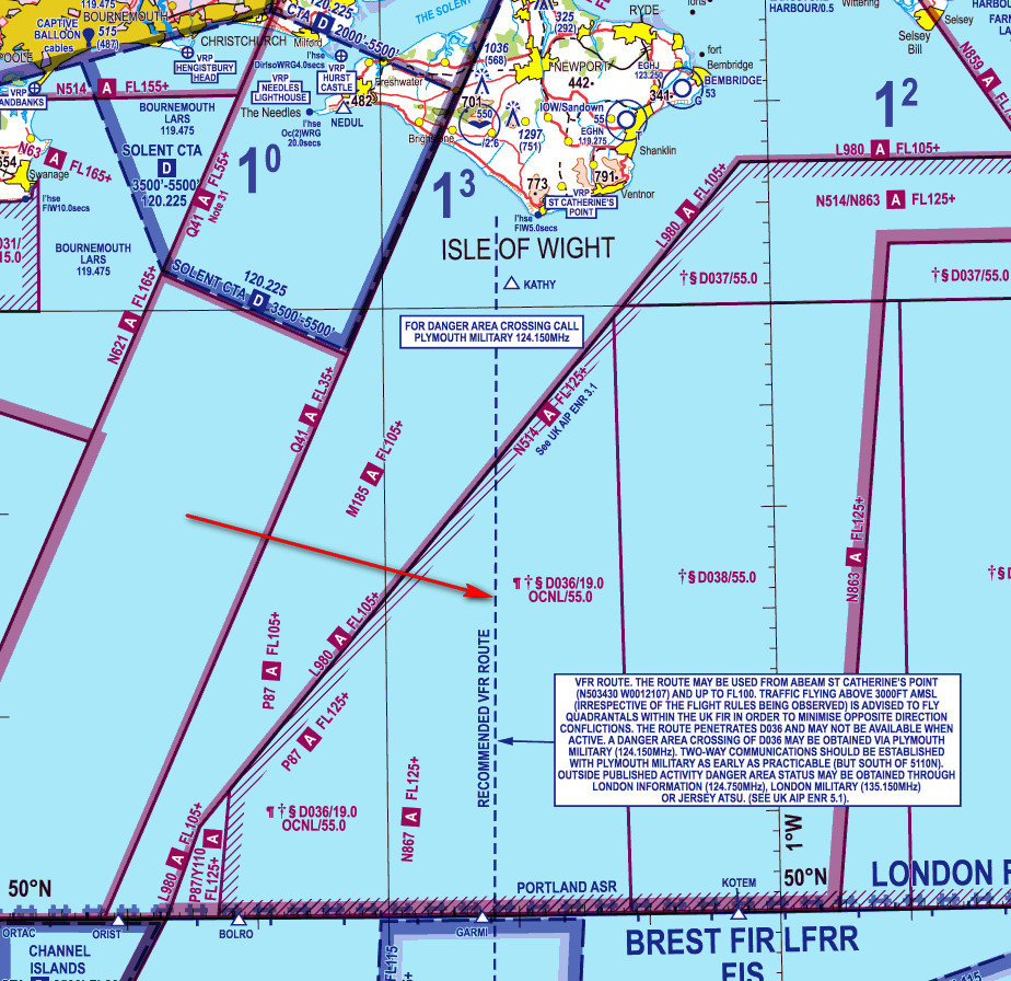 Recommended VFR Crossing