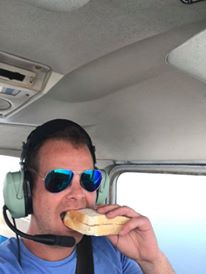 Lunch half way across the English Channel