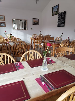 The restaurant room at The Dog and Pheasant East Mersea
