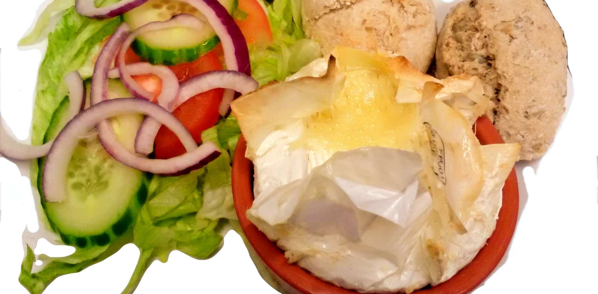 Camembert served with Crispy Roll