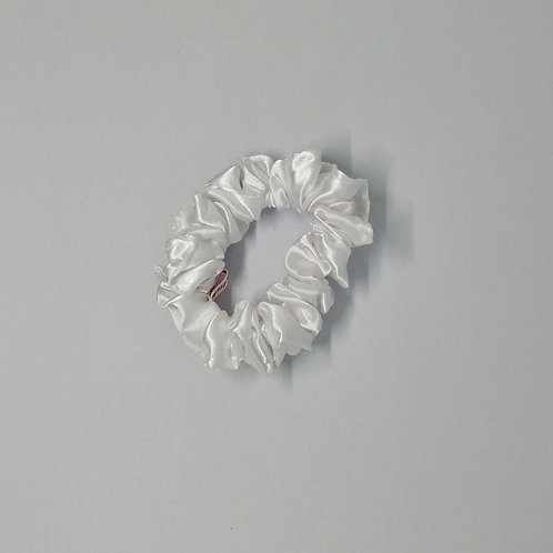 White Satin Scrunchie
