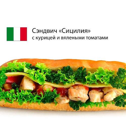 """Сэндвич """"Сицилия"""" с куриным филе и вялеными томатами"""
