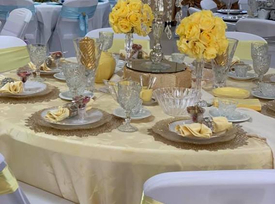 Yellow and Tan Table