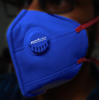 Blue Branded Mask with Filter