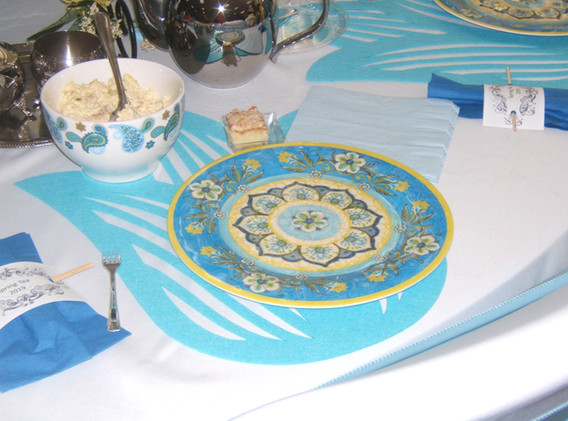 Baby Blue and White Table