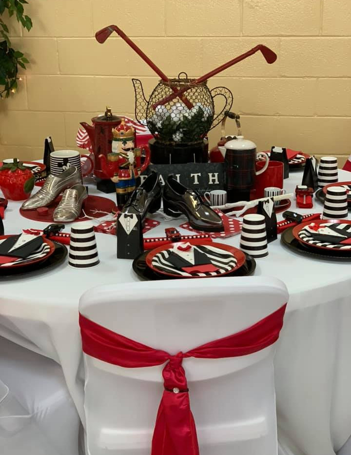 Red and Black Golf Table
