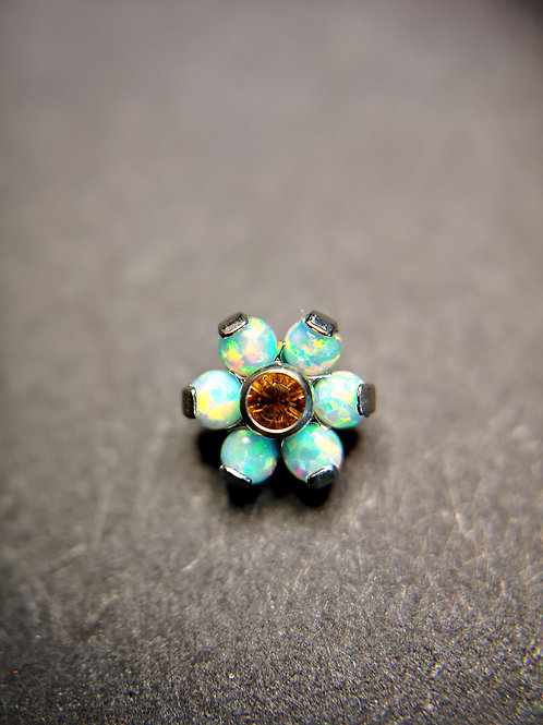 QualiTi's 'Serengeti Sunset' Opal And Swarovski Flower