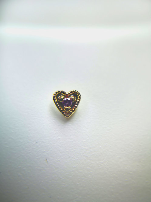 Body Gems 14ct Rose Gold Small Heart
