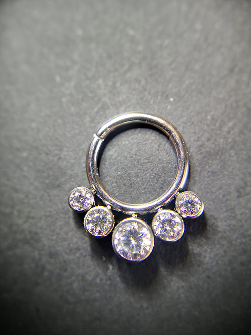 QualiTi's CZ Gem Hinged Ring