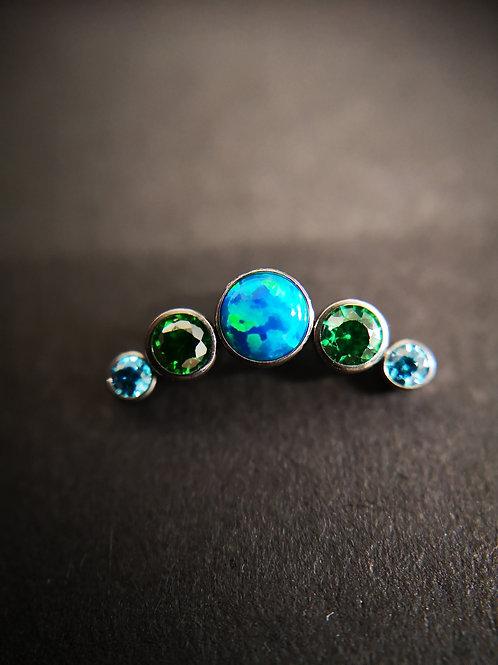 QualiTi 'Jade Sea' Crystal Cluster